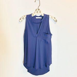 Lush Sleeveless Blue Top XS